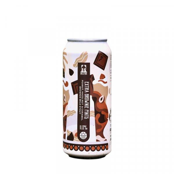 Brew York – Extra Brownie Pints Peanut, Hazelnut & Caramel Brownie Imperial Milk Stout