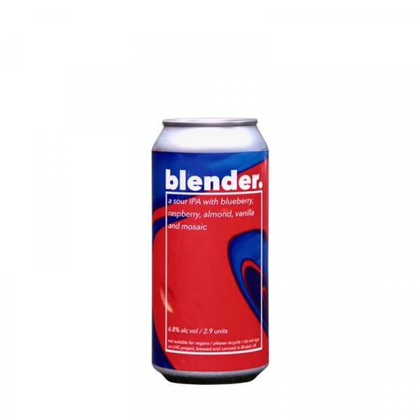Left Handed Giant – Blender. Fruited Sour IPA with Blueberry, Raspberry, Vanilla & Almond