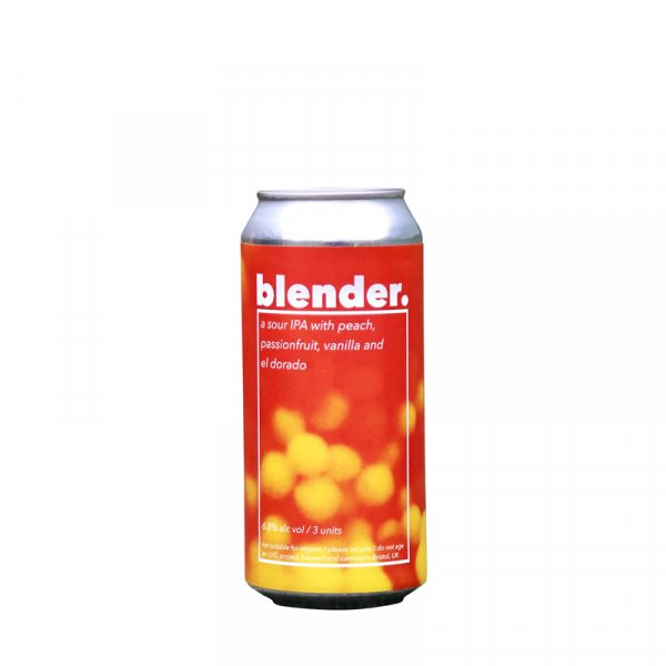 Left Handed Giant – Blender. Fruited Sour IPA with Peach, Passion Fruit & Vanilla